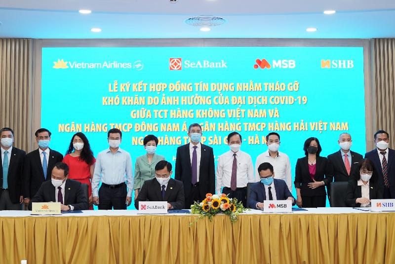 VNA ký kết hợp đồng tín dụng với 3 ngân hàng thương mại nhằm tháo gỡ khó khăn do dịch Covid-19
